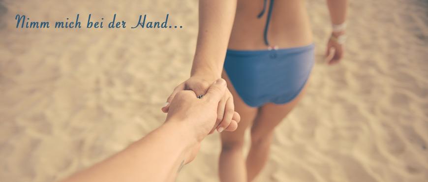 Liebespaar am Strand Gesundheit Wohlbefinden Urlaub
